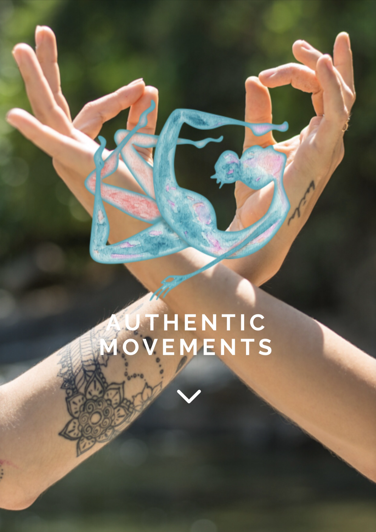 authentic movements two hands and logo